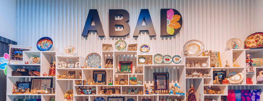 The renovated interior of ABAD Ethno-boutique was presented