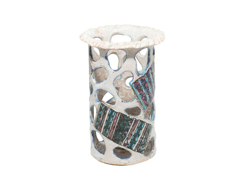 """Kilimli"" keramik vaza"