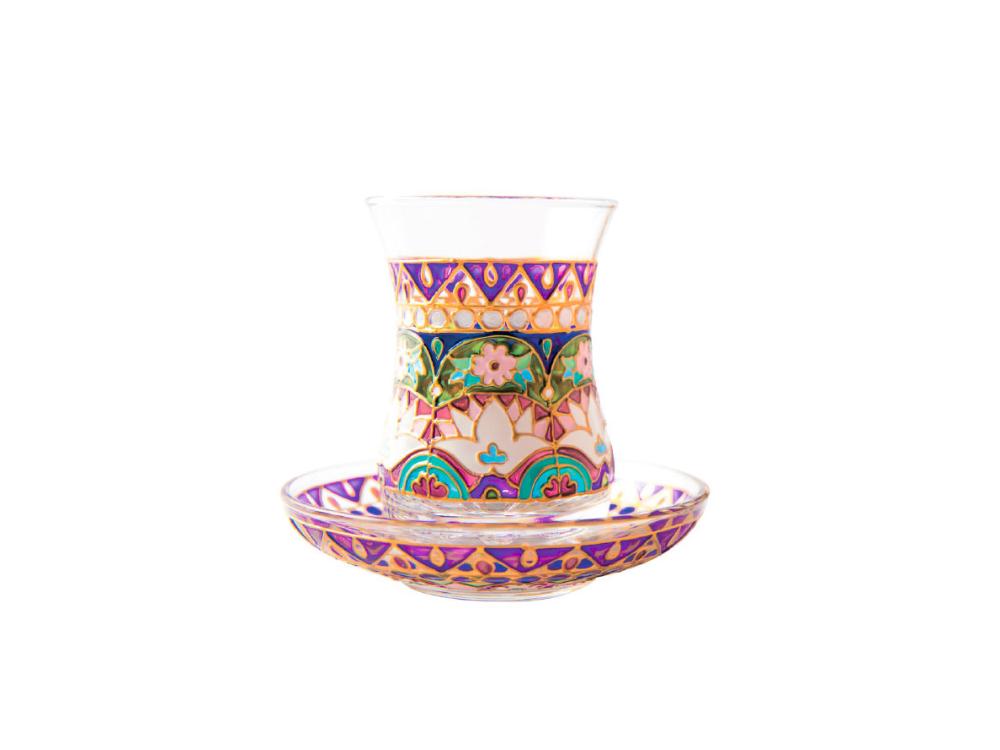 Milli ornamentli stəkan (6`lı dəst)