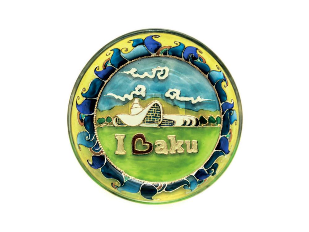 """I love Baku"" boşqab"